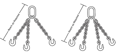 Triple and Quad Chain Slings