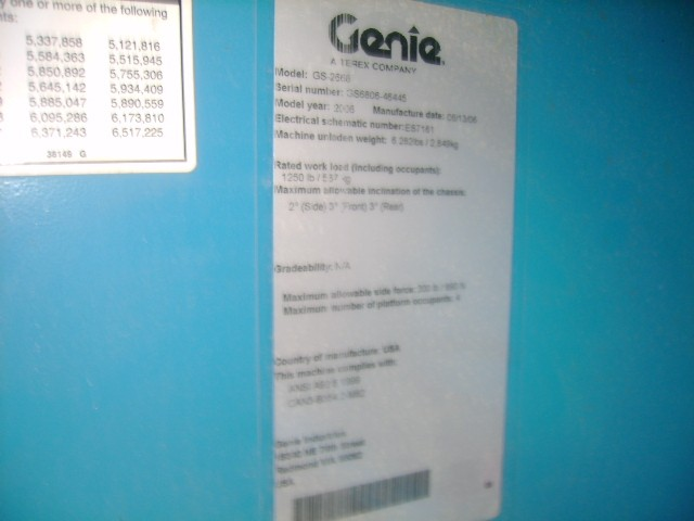 GENIE GS2668RT Scissor Lift Stock #76941