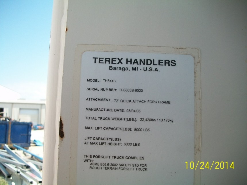 TEREX TH844 Telehandler Stock #77009