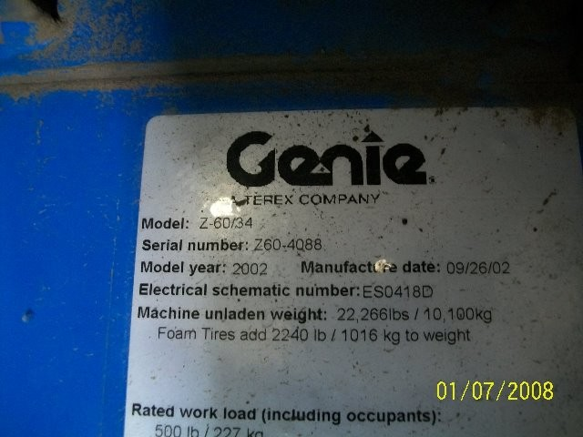 GENIE Z60/34RT Articulate Boom Stock #77132