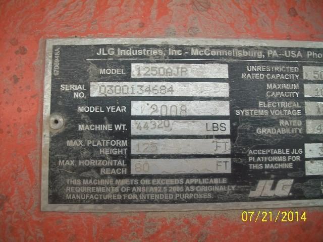 JLG AJP1250 Articulate Boom Stock #77472