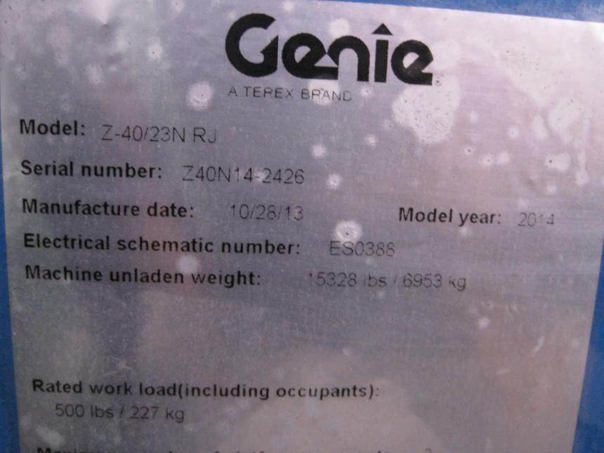GENIE Z40/20 Articulate Boom Stock #78557