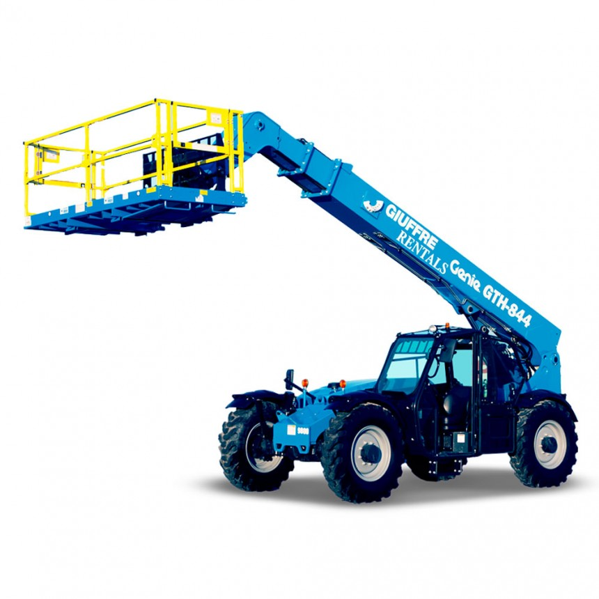 Genie GTH-844 • 8,000 LB Capacity • 44ft Reach Forklift Telehandler