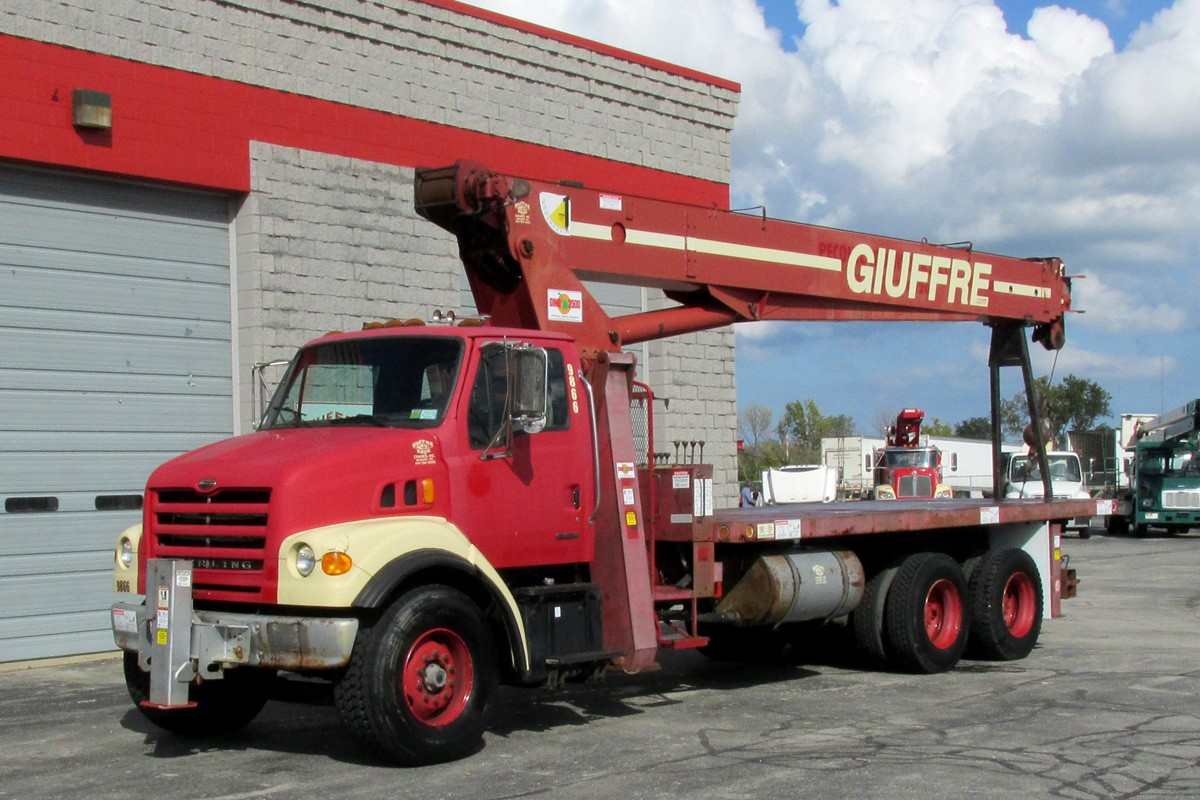 Terex BT4792 on 2003 Sterling Truck - Front Street Side View
