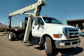 National 571E2 on 2011 Ford F750 - Front Curb side view
