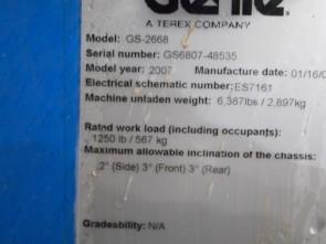 GENIE GS2668RT Scissor Lift Stock #76948