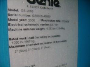 GENIE GS2668RT Scissor Lift Stock #76949
