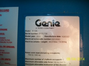 GENIE S120 Straight Boom Stock #77013