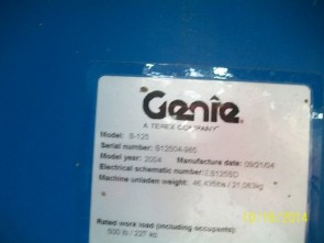 GENIE S125 Straight Boom Stock #77021