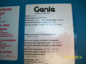 GENIE S125 Straight Boom Stock #77025