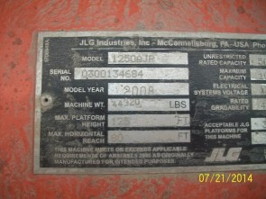 JLG AJP1250 Articulate Boom Stock #77472