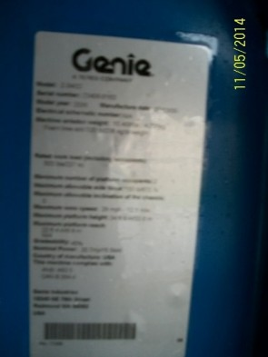 GENIE Z34/22 IC Articulate Boom Stock #78635