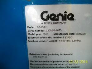 GENIE Z30/20N Articulate Boom Stock #78636