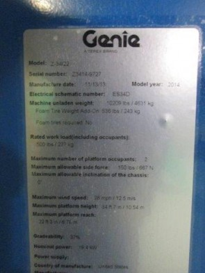 GENIE Z34/22IC Articulate Boom Stock #78805