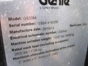 GENIE GS3384 Scissor Lift Stock #78867