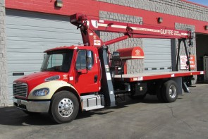 Terex BT3870 on 2013 Freightliner M2 106 Front Street side view