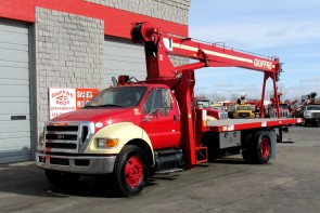 Manitex 1970C on 2013 Ford F750 front street side