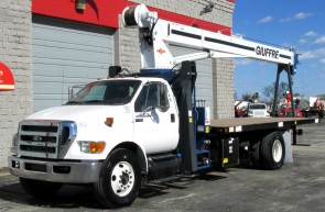 Manitex 1970C on 2015 Ford F750 - Front street side