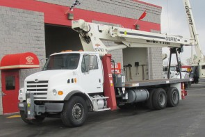 Terex BT4792 on 2007 Sterling LT7500 - Front street side