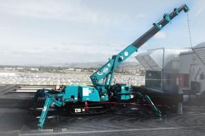 Maeda - MC285 Mini Crawler / Spider Crane Working on Rooftop