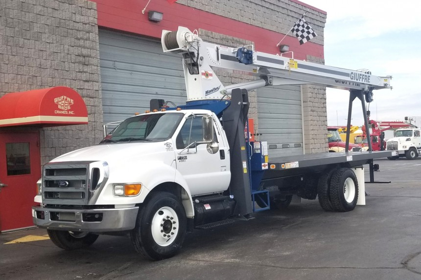 Manitex 1970C on New 2015 Ford F750 - Front Driver's Side