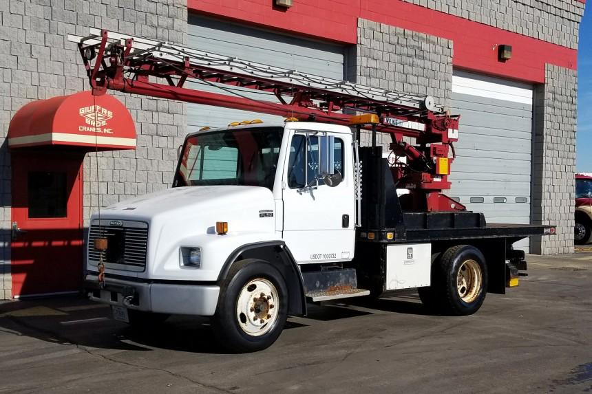 Wilkie 520 Ladder Truck Crane on 2001 Freightliner Truck - Front Driver's Side