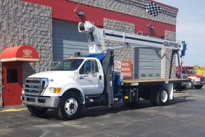Manitex 1970C on New 2015 Ford F750 - Front Street Side