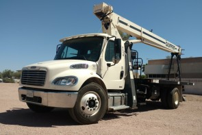 Terex BT3870 on 2012 Freightliner M2 106 - Front Driver's Side