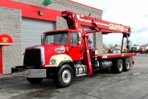 Terex BT5092 on 2014 Freightliner 108SD front street side view
