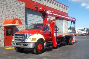 Terex BT3870 on 2015 Ford F750 - Front street side