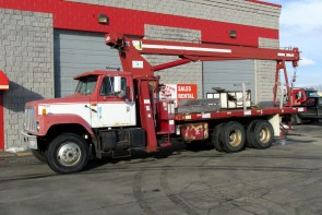 Terex BT3470 on International Truck Front Driver Side