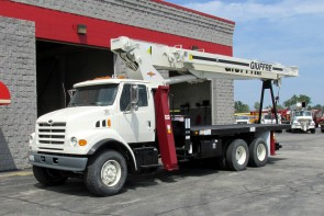 Terex BT4792 on 1999 Sterling Truck - Front Street Side View