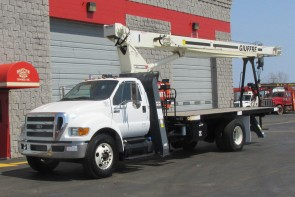 New Terex BT3870 on 2015 Ford F750 - Front driver's side