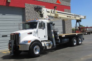 Terex 23.5 Ton Crane on 2019 Peterbilt 348 Truck - Front Driver's side view