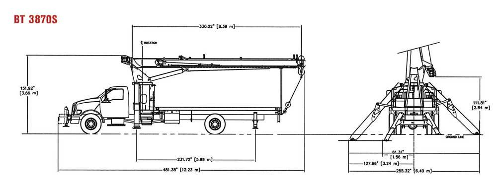 Terex BT3870S Dimensions