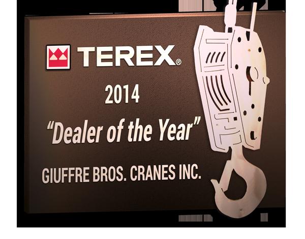 2014 Terex Boom Truck Dealer of the Year winner