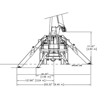 Terex BT3470 Standard Mount Rear Dimensions