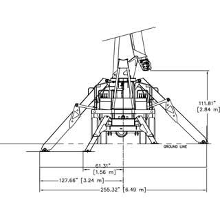 Terex BT3470 Tandem Axle Rear Dimensions