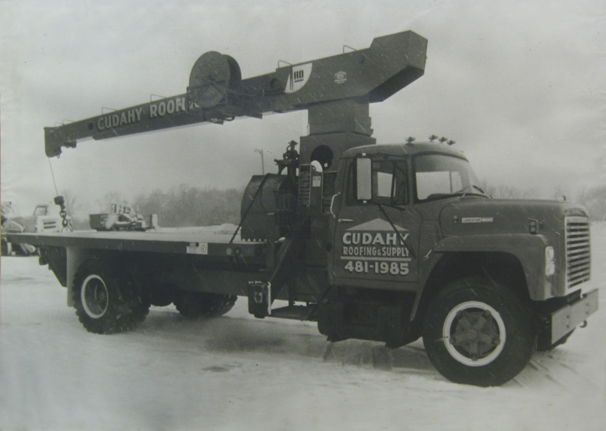 Cudahy Roofing starts relationship with Giuffre Cranes in 1970's