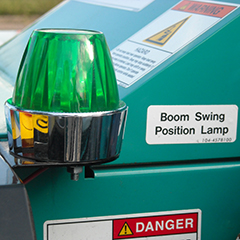 Boom Position Warning Lamp