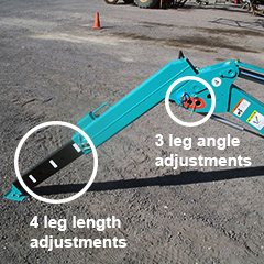 Multi-Position Outrigger for Spider Leg Setup