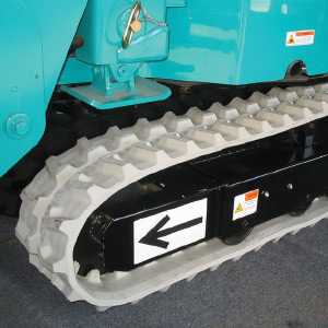 White Non-Marking Rubber Tracks
